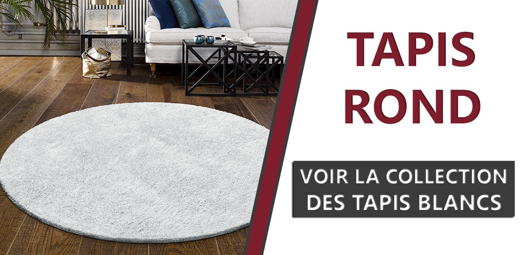 Collection Tapis Ronds Blancs