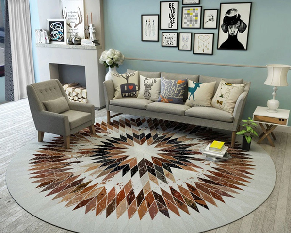 Tapis Rond Salon Scandinave