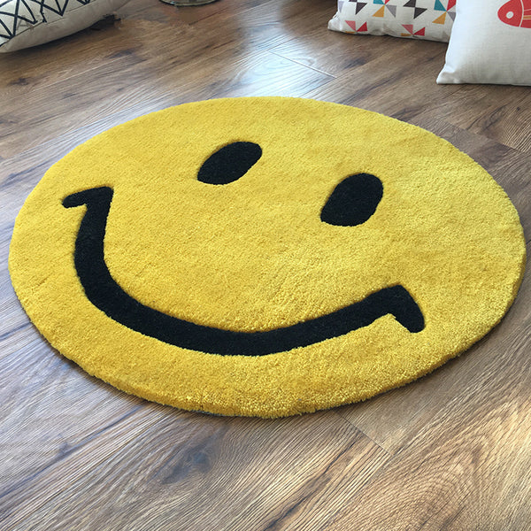 Tapis Rond Smiley
