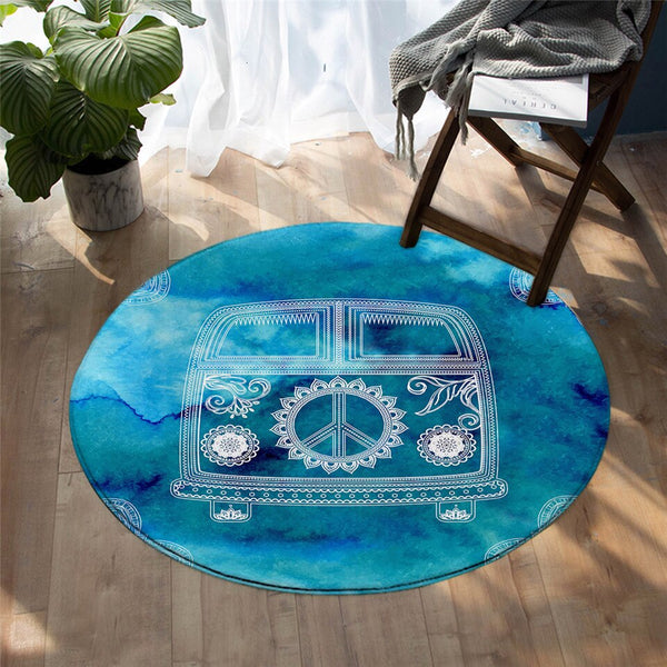 Tapis Rond Peace and Love