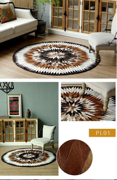 Tapis Rond Patchwork