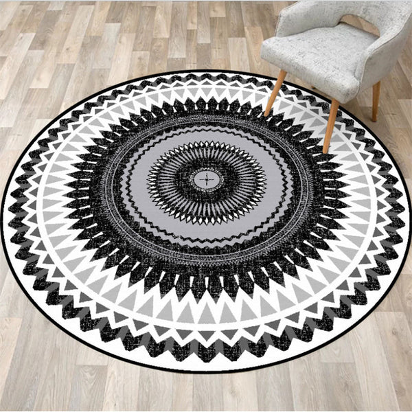 Tapis Rond Tribal