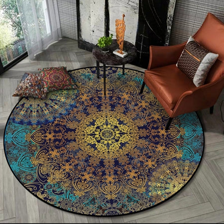 Tapis Rond Art Abstrait