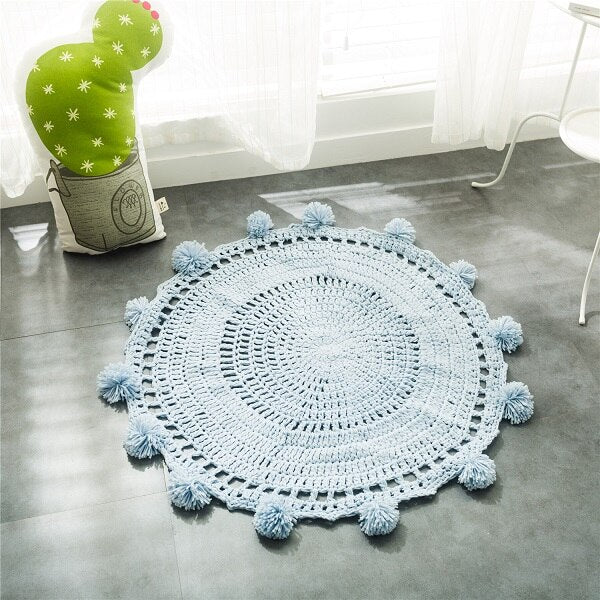 Tapis Rond Pompon