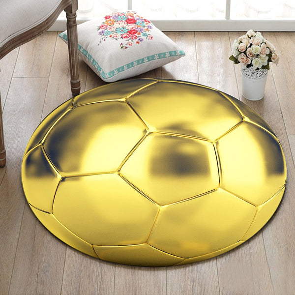 Tapis Rond Ballon D'Or