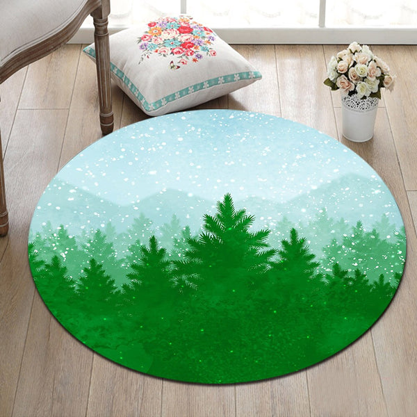 Tapis Rond Forêt