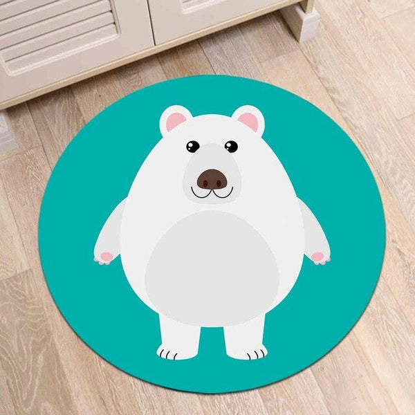 Tapis Rond Ours Polaire