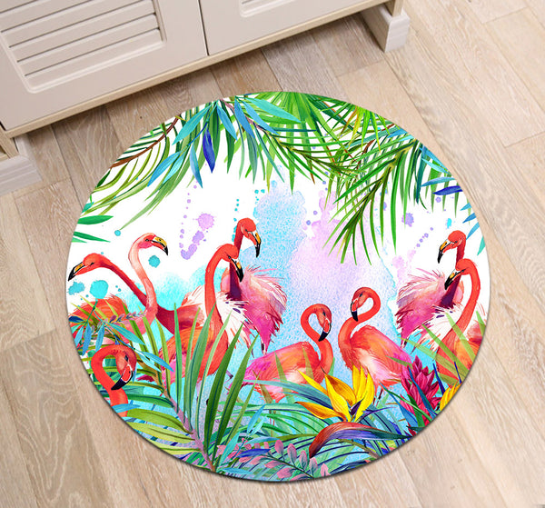 Tapis Rond Coloré Salon
