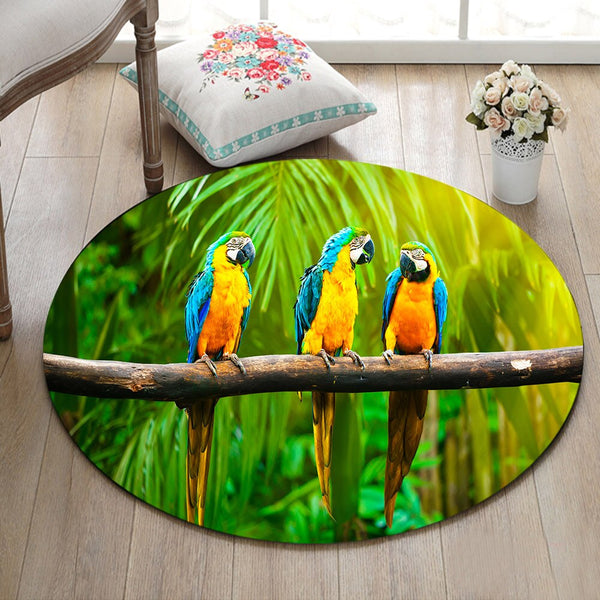 Tapis Rond Ambiance Tropicale