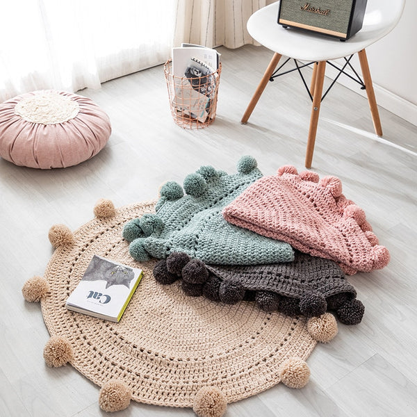 Tapis Rond Tricot