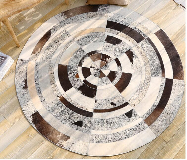 Tapis Cuir Rond