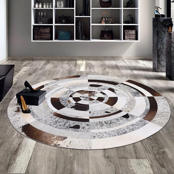 Tapis Cuir Rond | Mon Tapis Rond