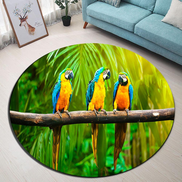 Tapis Rond Ambiance Tropicale | Mon Tapis Rond