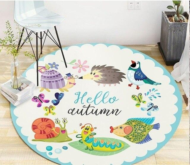 Tapis Rond Automne | Mon Tapis Rond