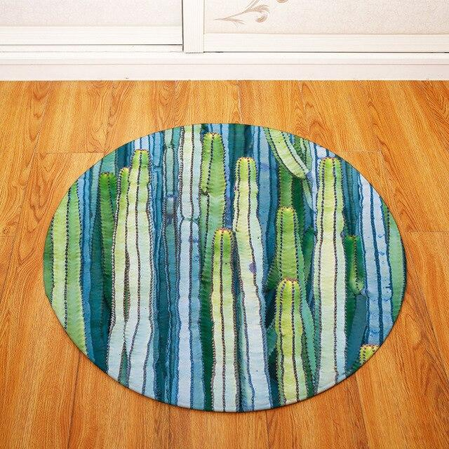 Tapis Rond Cactus Tropical | Mon Tapis Rond