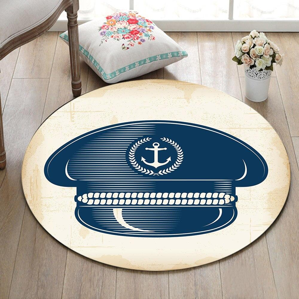 Tapis Rond Casquette Capitaine | Mon Tapis Rond