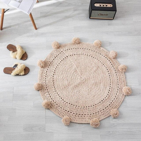 Tapis Rond Couleur Taupe | Mon Tapis Rond