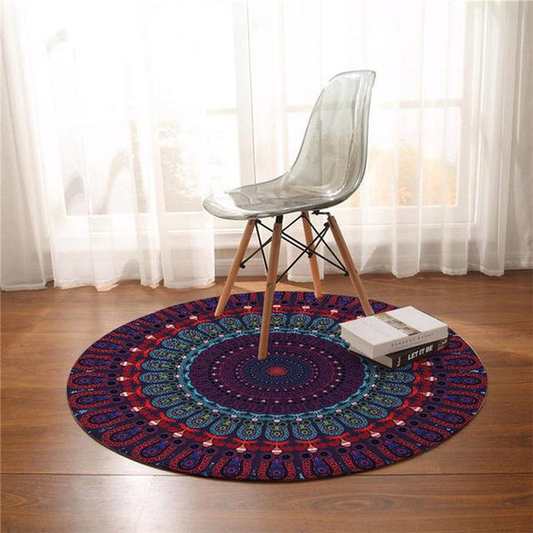 Tapis Rond Figue | Mon Tapis Rond