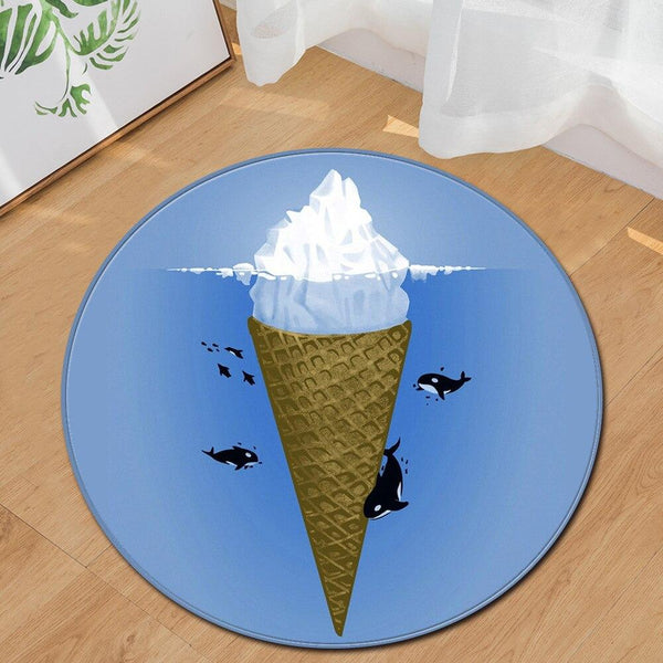 Tapis Rond Glace | Mon Tapis Rond
