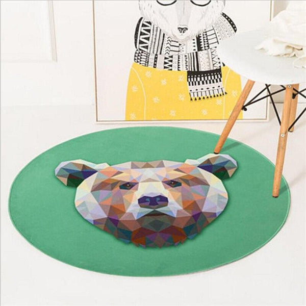 Tapis Rond Ours | Mon Tapis Rond