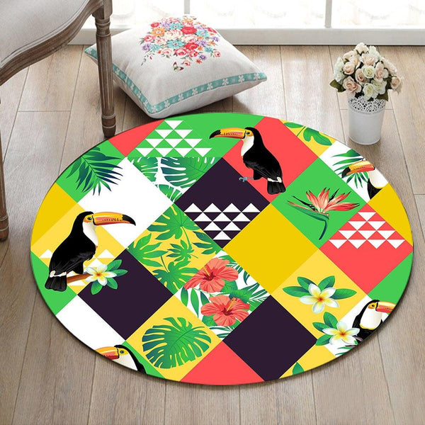 Tapis Rond Perroquet | Mon Tapis Rond