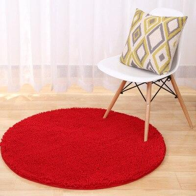Tapis Rond Rouge 120 cm | Mon Tapis Rond