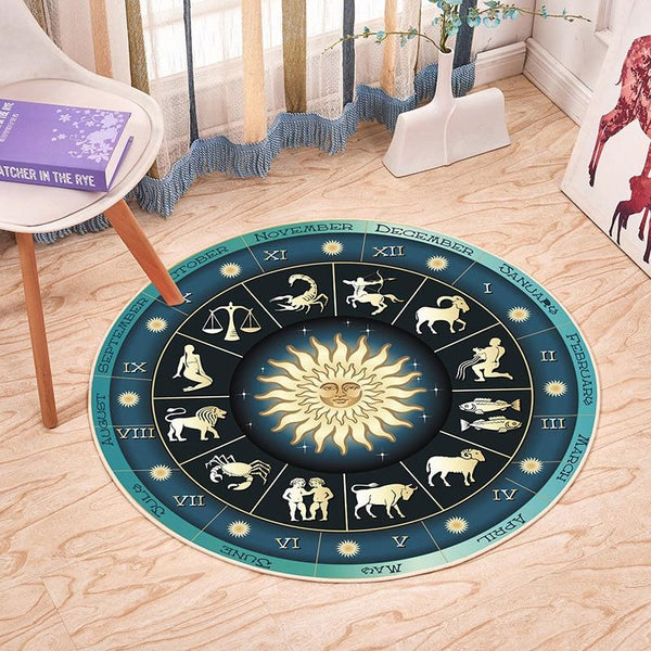 Tapis Rond Signes Astrologie | Mon Tapis Rond