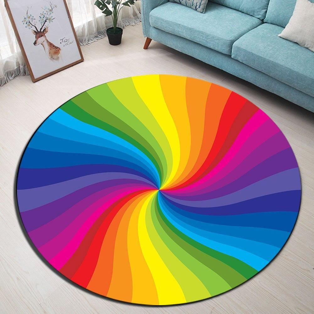 Tapis Rond Spirale Multicolore | Mon Tapis Rond