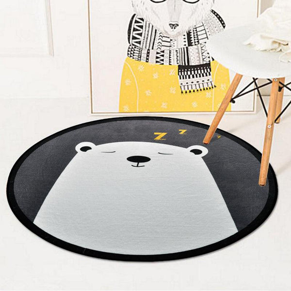 Tapis Rond Tête D'Ours | Mon Tapis Rond