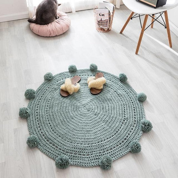 Tapis Rond Tricot | Mon Tapis Rond