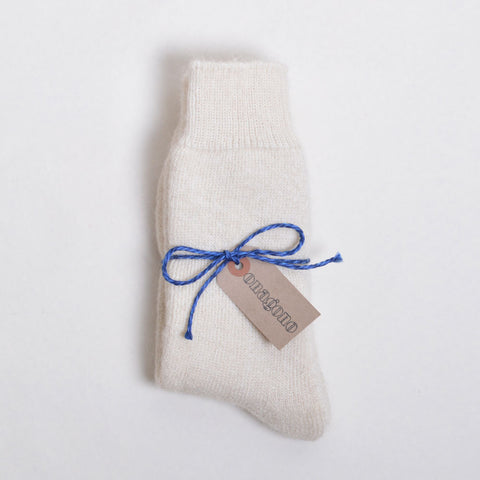 Mohair Socks - cream
