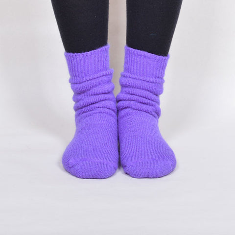 Mohair Socks - purple