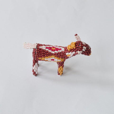 Handcrafted Beaded Animal - brown/white