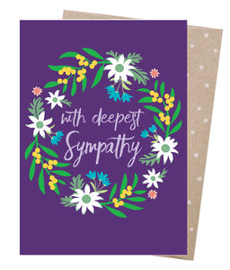 Earth Greetings Sympathy Wreath Card