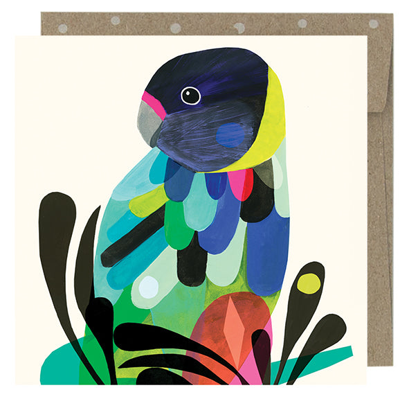 Earth Greetings Twenty Eight Parrot Card