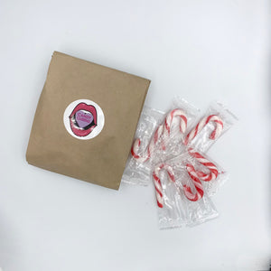 Mini Candy Canes - 10 pieces