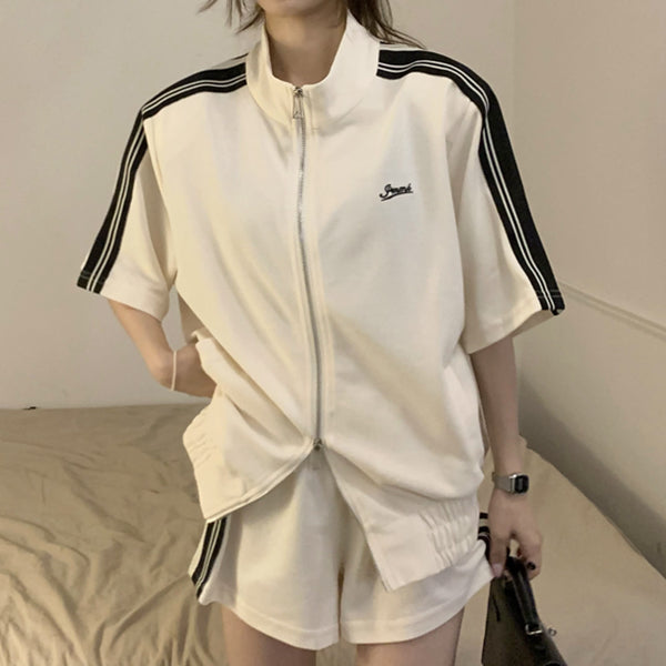 Sling pink v-neck short a-line dress