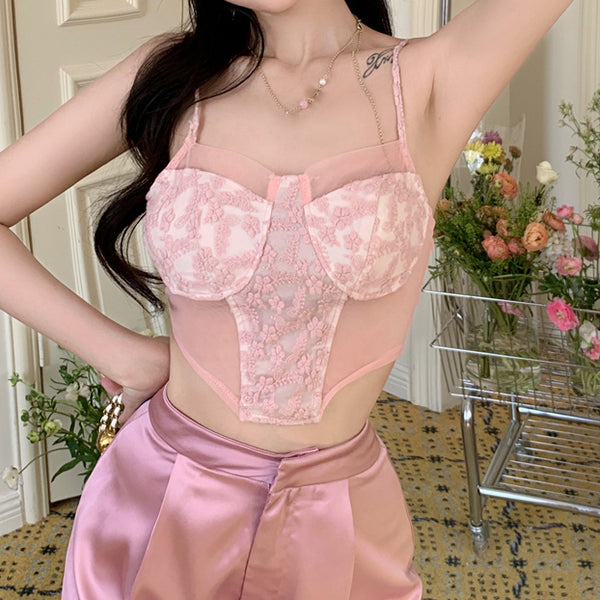 Lace-up short long-sleeved sweater top