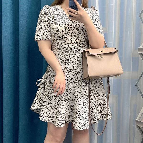 Plaid high waist a-line woolen skirt