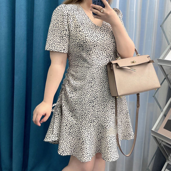 Plaid high tweed waist a-line short skirt