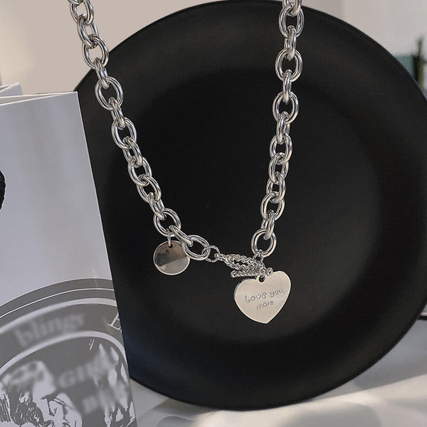 Love necklace simple hip-hop clavicle chain