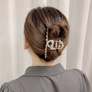 Metal gripper pearl rhinestone gripper hairpin accessory