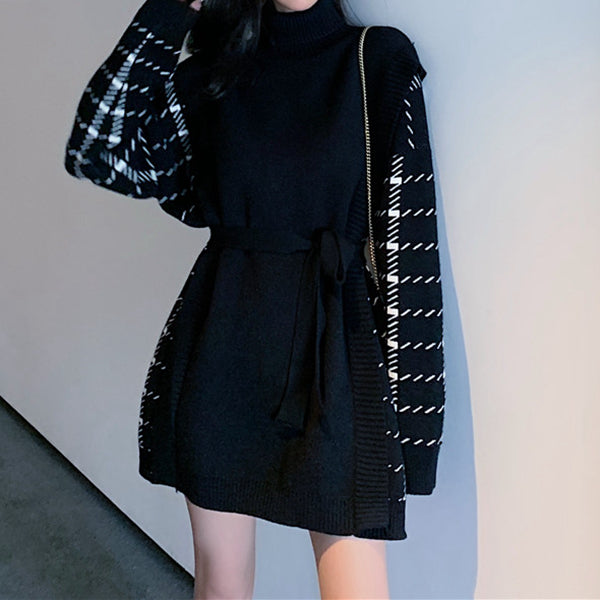Sport arrow logo long sleeve short skirt two-piece suit