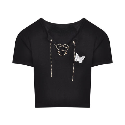 Solid color high waist straight woven pants