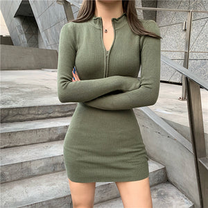 New temperament style stylish long-sleeved dress