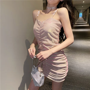 New style suspender temperament sexy short dress