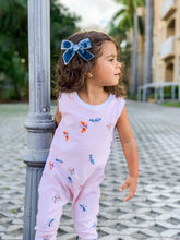 Load image into Gallery viewer, Girls Striped Butterfly Romper