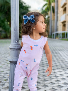 Girls Striped Butterfly Romper
