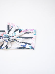 Stripe and Floral Headband