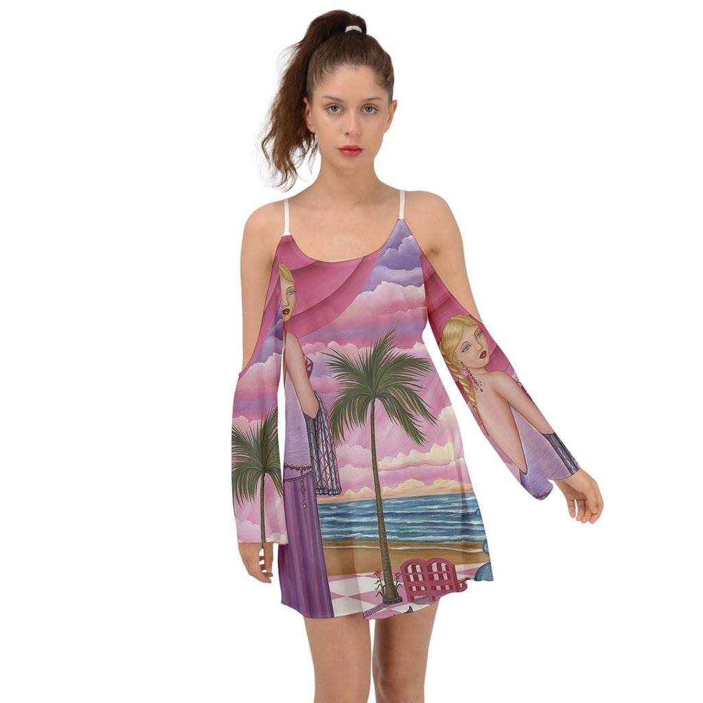 Palm Beach Melissa Kimono Sleeves Boho Dress